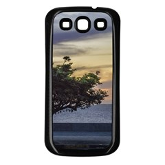 Sunset Scene At Boardwalk In Montevideo Uruguay Samsung Galaxy S3 Back Case (black) by dflcprints