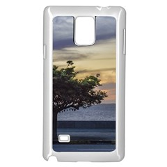 Sunset Scene At Boardwalk In Montevideo Uruguay Samsung Galaxy Note 4 Case (white) by dflcprints