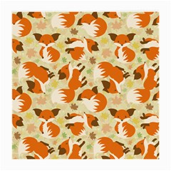 Curious Maple Fox Glasses Cloth (medium, Two Sided)