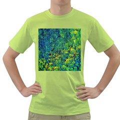 Flowers Abstract Yellow Green Green T Shirt by Costasonlineshop