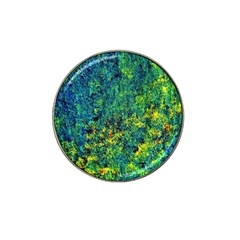 Flowers Abstract Yellow Green Hat Clip Ball Marker (10 Pack) by Costasonlineshop