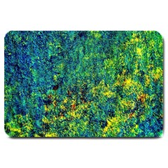 Flowers Abstract Yellow Green Large Doormat