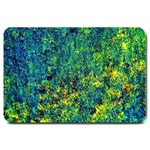 Flowers Abstract Yellow Green Large Doormat  30 x20 Door Mat - 1