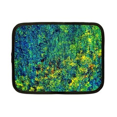 Flowers Abstract Yellow Green Netbook Case (small)  by Costasonlineshop