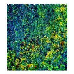 Flowers Abstract Yellow Green Shower Curtain 66  X 72  (large)  by Costasonlineshop