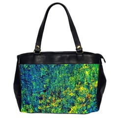 Flowers Abstract Yellow Green Office Handbags (2 Sides)  by Costasonlineshop