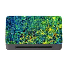 Flowers Abstract Yellow Green Memory Card Reader With Cf by Costasonlineshop