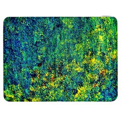 Flowers Abstract Yellow Green Samsung Galaxy Tab 7  P1000 Flip Case by Costasonlineshop