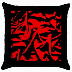 Red Black Retro Pattern Throw Pillow Cases (black) by Costasonlineshop
