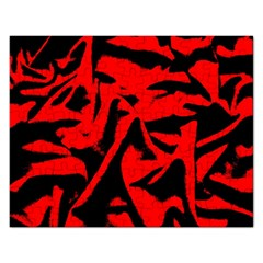 Red Black Retro Pattern Rectangular Jigsaw Puzzl by Costasonlineshop