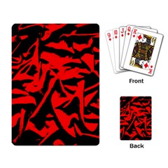 Red Black Retro Pattern Playing Card by Costasonlineshop