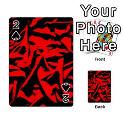 Red Black Retro Pattern Playing Cards 54 Designs  by Costasonlineshop
