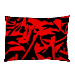 Red Black Retro Pattern Pillow Cases (two Sides) by Costasonlineshop