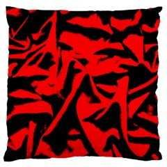 Red Black Retro Pattern Large Cushion Cases (one Side)  by Costasonlineshop