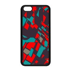 Red Blue Pieces			apple Iphone 5c Seamless Case (black) by LalyLauraFLM
