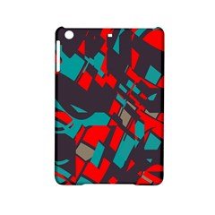 Red Blue Pieces			apple Ipad Mini 2 Hardshell Case by LalyLauraFLM