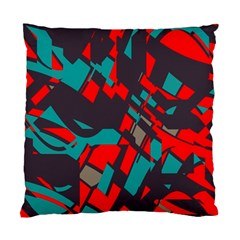 Red Blue Pieces 	standard Cushion Case (two Sides) by LalyLauraFLM