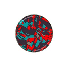 Red Blue Pieces			hat Clip Ball Marker by LalyLauraFLM