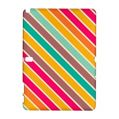 Colorful Diagonal Stripes			samsung Galaxy Note 10 1 (p600) Hardshell Case by LalyLauraFLM
