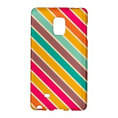 Colorful Diagonal Stripes			samsung Galaxy Note Edge Hardshell Case by LalyLauraFLM
