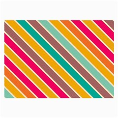 Colorful Diagonal Stripes			large Glasses Cloth by LalyLauraFLM