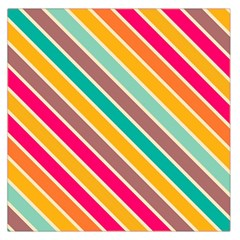 Colorful Diagonal Stripes Satin Scarf by LalyLauraFLM