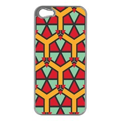 Honeycombs Triangles And Other Shapes Pattern			apple Iphone 5 Case (silver) by LalyLauraFLM