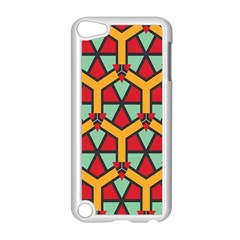 Honeycombs Triangles And Other Shapes Pattern			apple Ipod Touch 5 Case (white) by LalyLauraFLM