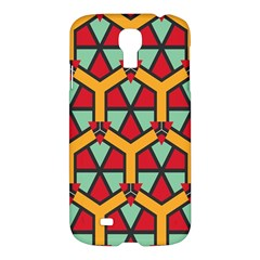 Honeycombs Triangles And Other Shapes Pattern			samsung Galaxy S4 I9500/i9505 Hardshell Case by LalyLauraFLM