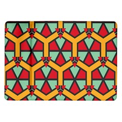 Honeycombs Triangles And Other Shapes Pattern			samsung Galaxy Tab 10 1  P7500 Flip Case by LalyLauraFLM