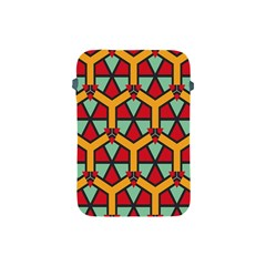 Honeycombs Triangles And Other Shapes Pattern			apple Ipad Mini Protective Soft Case by LalyLauraFLM