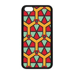 Honeycombs Triangles And Other Shapes Pattern			apple Iphone 5c Seamless Case (black) by LalyLauraFLM