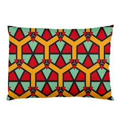 Honeycombs Triangles And Other Shapes Pattern			pillow Case by LalyLauraFLM