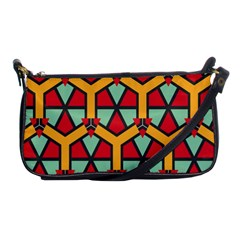 Honeycombs Triangles And Other Shapes Pattern			shoulder Clutch Bag by LalyLauraFLM