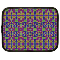 Ethnic Modern Geometric Pattern Netbook Case (large) by dflcprints