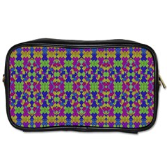 Ethnic Modern Geometric Pattern Toiletries Bags 2-side by dflcprints