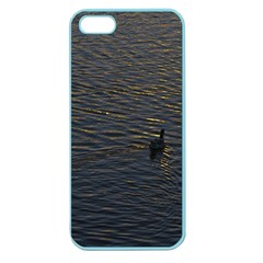 Lonely Duck Swimming At Lake At Sunset Time Apple Seamless Iphone 5 Case (color) by dflcprints