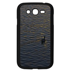 Lonely Duck Swimming At Lake At Sunset Time Samsung Galaxy Grand Duos I9082 Case (black) by dflcprints