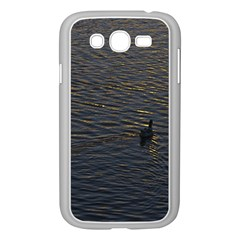 Lonely Duck Swimming At Lake At Sunset Time Samsung Galaxy Grand Duos I9082 Case (white) by dflcprints