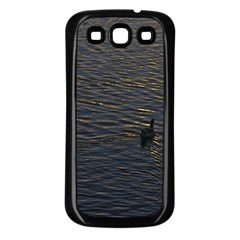 Lonely Duck Swimming At Lake At Sunset Time Samsung Galaxy S3 Back Case (black) by dflcprints