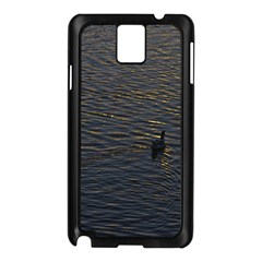 Lonely Duck Swimming At Lake At Sunset Time Samsung Galaxy Note 3 N9005 Case (black) by dflcprints
