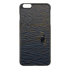 Lonely Duck Swimming At Lake At Sunset Time Apple Iphone 6 Plus/6s Plus Black Enamel Case by dflcprints
