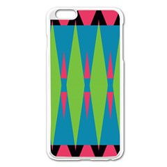Connected Rhombus			apple Iphone 6 Plus/6s Plus Enamel White Case by LalyLauraFLM
