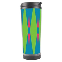 Connected Rhombus Travel Tumbler by LalyLauraFLM