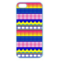 Rectangles Waves And Circles			apple Seamless Iphone 5 Case (color) by LalyLauraFLM