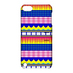 Rectangles Waves And Circles			apple Ipod Touch 5 Hardshell Case With Stand by LalyLauraFLM