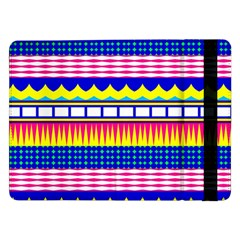 Rectangles Waves And Circles			samsung Galaxy Tab Pro 12 2  Flip Case by LalyLauraFLM