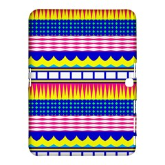 Rectangles Waves And Circles			samsung Galaxy Tab 4 (10 1 ) Hardshell Case by LalyLauraFLM