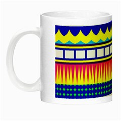 Rectangles Waves And Circles Night Luminous Mug by LalyLauraFLM