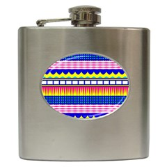 Rectangles Waves And Circles			hip Flask (6 Oz)